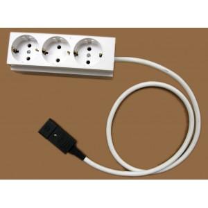 Изх.кабел 3х1.5кв. с ракл.3ка 1метър