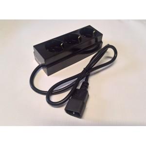 Изходен кабел за UPS с разклонител троен-1м.