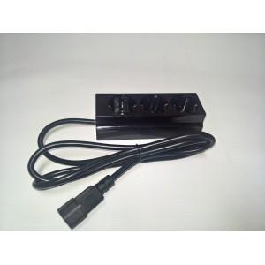 Изходен кабел за UPS с разклонител троен-1.5м./3x1 кв